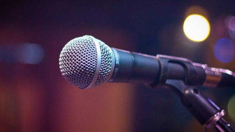 Dieses Mikrofon wartet auf einen der talentierten Wortakrobaten im Lido.