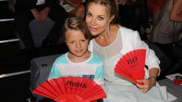 ... Xenia Seeberg mit Sohn Philip-Elias ...
