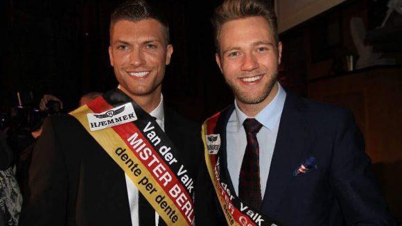 Mister unter sich: der neue Enrico Dietrich (24, links) und der alte Jörn Kamphuis, der gleichzeitig den Titel Mister Germany 2013 inne hat.