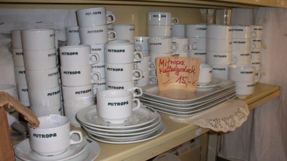 In den neunziger Jahren sammelte Elke Matz Geschirr der Mitropa-Kette.
