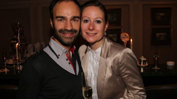 Mode-Designer Ivan Strano mit Eventmanagerin Katrin Splitt.
