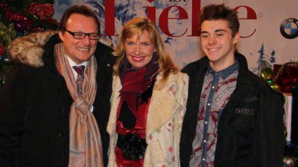 Familien-Trio: Modedesignerin Nanna Kuckuck mit ihrem Mann Dirk Ullmann und Sohn Philipp.