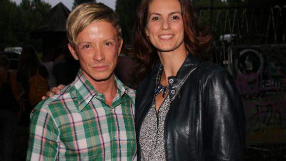 Model und ehemalige Miss Germany Katrin Wrobel und Designer Burkhard Wildhagen.