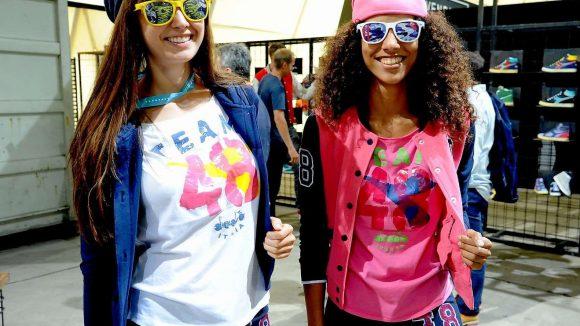 Models in Shirts von Diadora. Wer im September in den bunten Zirkus der Bread & Butter eintauchen möchte, muss nach Treptow.