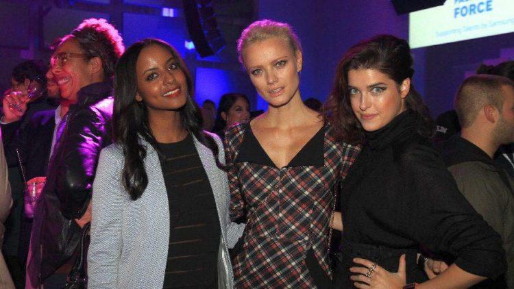 Model-Trio: Sara Nuru, Franziska Knuppe und Marie Nasemann.