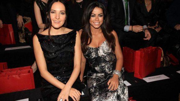 Auch in der Front Row: Moderatorin Johanna Klum (links) und Sängerin Fernanda Brandao.