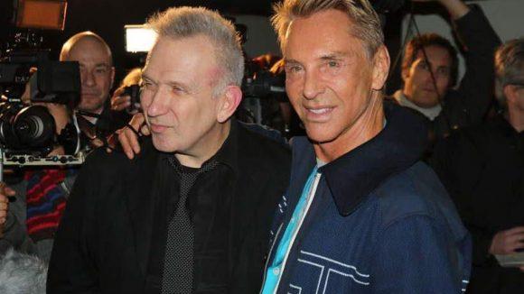 Modeschöpfer unter sich: Gaultier (l.) mit unserem Wolle aka GNTM-Juror Wolfgang Joop.