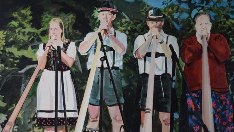 """Die Performance """"Welcome to Germany"""" zeichnet ein ziemlich düsteres Bild sentimentaler Deutschtümelei."""