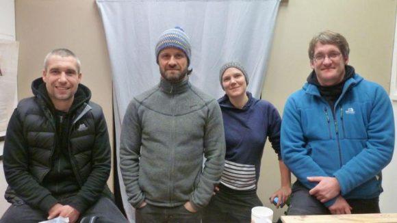 Ein Teil des Teams: Daniel, Sven, Nina und Sebastian (v.l.) haben die NGO Phoenix e.V. gegründet, die sie mit fairen Sportartikeln finanzieren wollen.