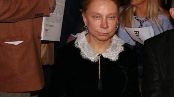 Schaut nun nicht gerade glücklich drein: Museumsdirektorin und damit Gastgeberin Alexandra Hildebrandt.