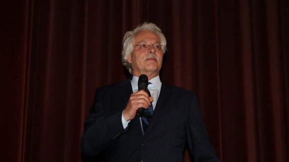 """""""Tagesthemen""""-Moderator Thomas Roth führte durch den Abend."""