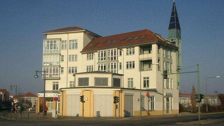 Neu-Karow: Achillesstraße, Ecke Bucher Chaussee.