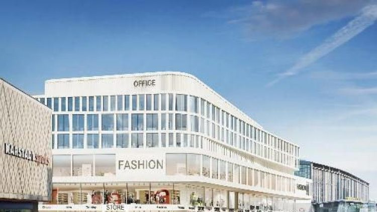 Unten Shopping, oben Büros. So soll man aus Richtung Ku'damm auf den Neubau zwischen Karstadt sports und Bahnhof Zoo blicken.