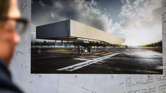 Ein Blick auf einen der Siegerentwürfe für den Neubau der Zentral-und Landesbibliothek.