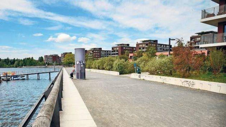 Da ist doch noch Platz! Die Neubauten an der Rummelsburger Bucht tragen dazu bei, dass die Gegend eine der am stärksten wachsenden in Berlin ist.