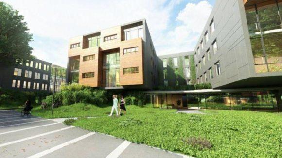 Umgeben ist das Immobilienprojekt von ganz viel Grün.