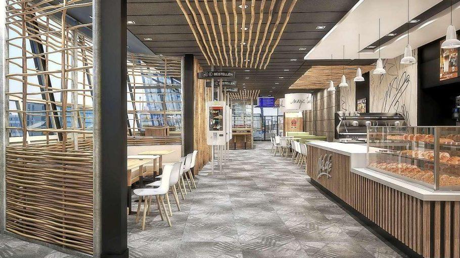Mit Durchblick. So soll das neue Burger-Restaurant in den früheren Terrassen am Zoo aussehen.