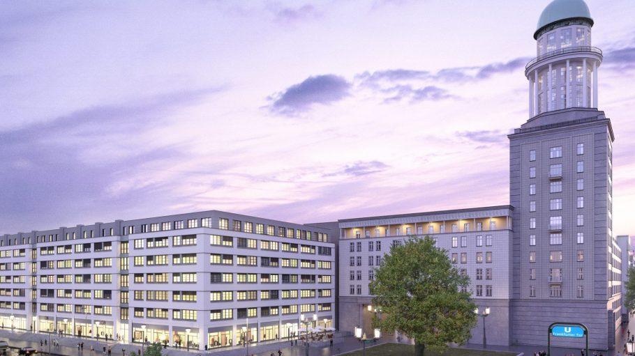 Was aussieht wie ein neues Einkaufszentrum ist das moderne Studentenwohnheim Neon Wood am Frankfurter Tor.