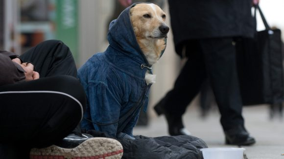 Peter hat sich als Obdachloser eingerichtet, er sagt, er brauche seine Freiheit.