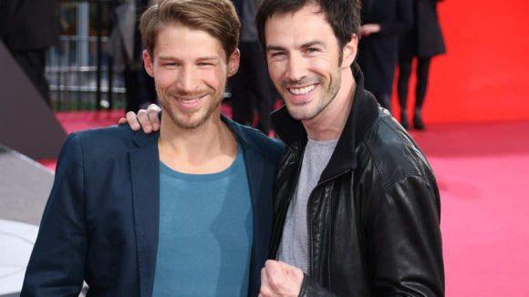 Die fast gleich alten Schauspielerkollegen Oliver Bender und Arne Stephan (beide 33).