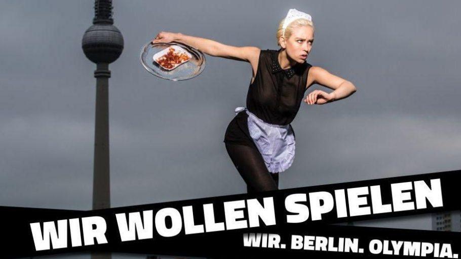 """Olympia geht alle Berliner an - laut der neuen Kampagne """"Wir Wollen Spielen""""."""