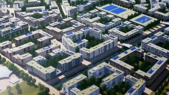 Sportlerheim. So soll das Olympische Dorf auf dem Flughafen Tegel aussehen.