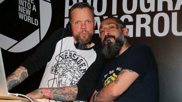Für Musik sorgten die DJs Torsten Scholz (l.) aka Totze Trippi, auch als Bassist der Beatsteaks bekannt, und Senay Gueler.