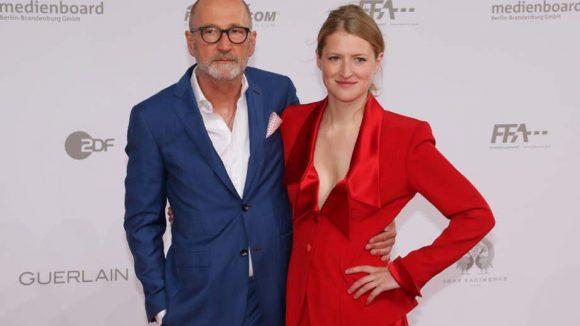 Brachte seine eigene Lola mit: Peter Lohmeyer mit seiner Tochter Lola Klamroth.