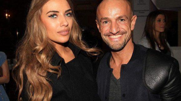 ... und ihr ehemaliger Ziehvater, der Modelagent Peyman Amin, mit seiner aktuellen Freundin Jasmina.