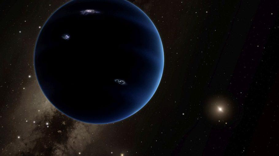 """Sieht er so aus, der """"Planet Nine""""? Bisher glauben Forscher nur zu wissen, dass es ihn gibt, wo genau er gerade kreist oder wie er aussieht weiß niemand. So stellen ihn sich zumindest Künstler vor."""