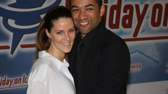 ... Robin Szolkowy mit seiner Frau Romy Born.