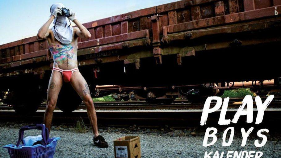 Im Playboys Kalender zeigen sich Street-Artists aus Berlin in Unterwäsche und mit Graffiti auf dem Körper.