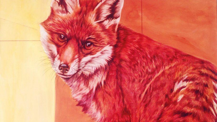 Ganz schön ausgefuchst! Der Berliner Künstler POGO stellt in seiner aktuellen Ausstellung vier Füchse in den Fokus.
