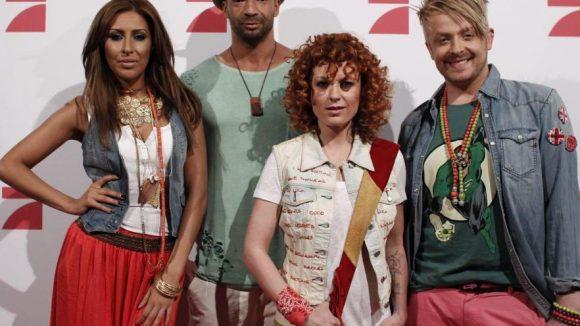 "Die ""Popstars 2012""-Jury: Senna Guemmour, Detlef D! Soost, Lucy Diakovska und Ross Antony."