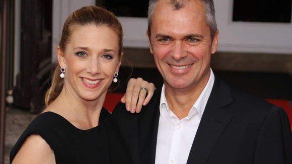 Noch ein schönes Paar: Ex-GZSZ-Schauspielerin Kristin Meyer und Patrick Winczewski. Der ist nicht nur Regisseur (Tatort), sondern auch die Synchron-Stimme von Hugh Grant und Tom Cruise.