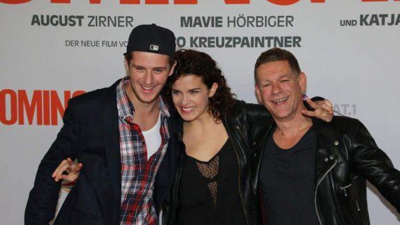 "Den Soundtrack steuerten diese drei bei: Chris Schummert (""The Voice""), Maxine Kazis und Ex-Rosenstolz-Sänger Peter Plate (v.l.)."