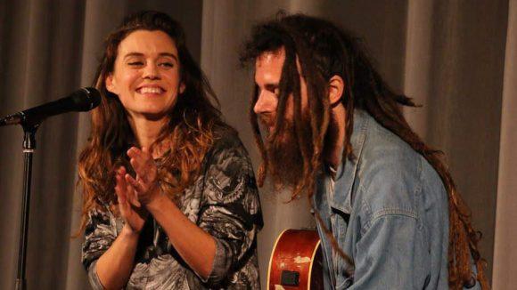 Die Musikerin Saint Lu sorgte für frische Klänge.
