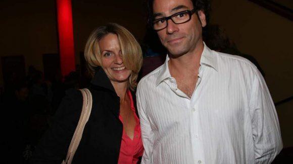 Gäste beim Premierenabend: Schauspielerin Gunda Ebert mit Freund Denis.