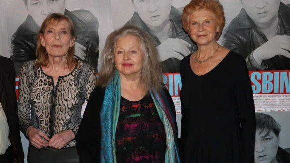 ... seine Stars Margit Carstensen, Hanna Schygulla und Irm Hermann (v.l.) ...