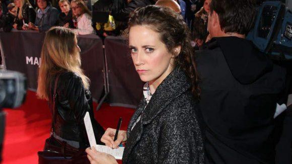 Schauspielerin Anja Knauer kam dagegen nicht so ganz privat: Sie arbeitete in Liveatmosphäre für ihren neuen Film.
