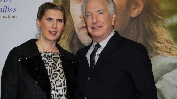 Rickman noch einmal mit der Schauspielerin Paula Paul, die in seinem neuen Film ebenfalls eine Rolle bekommen hat.
