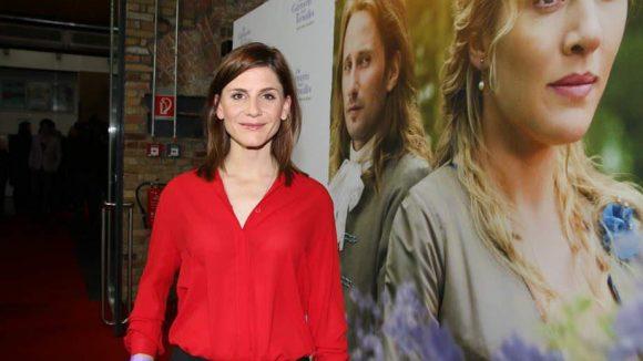 Viele hübsche Darstellerinnen waren als Zuschauerinnen erschienen: Etwa Christina Hecke ...