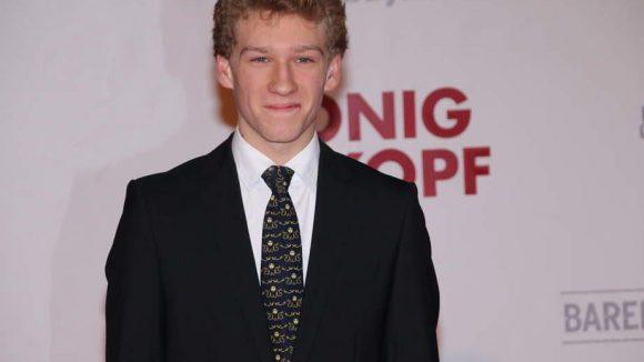 Auch Dieter Hallervorden hatte seinen Sohn dabei: Johannes ist stolze 16 Jahre alt.