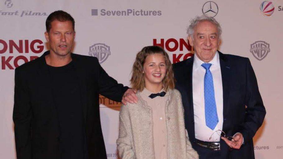 Die Hauptdarsteller im neuen Film: Til Schweiger, Tochter Emma und Dieter Hallervorden.