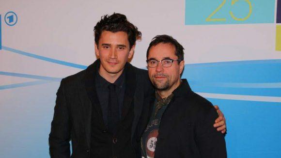Liefers mit dem Regisseur Sergej Moya.