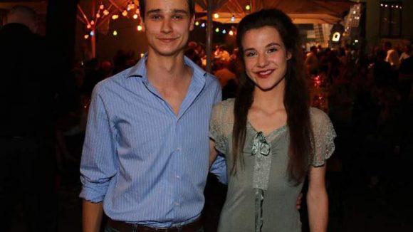 Die beiden jungen Schauspiel-Talente Maike Knirsch und Christian Mey.
