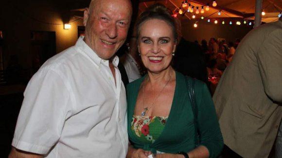 Schauspielerin Vitesha Benda mit Produzent Joachim von Vietinghoff.