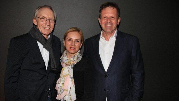 Die Gastgeber des Abends: Eventmanager Frank Pehlgrimm (links) sowie Birgitt und Burghard Zahlmann vom Concertbüro Zahlmann.