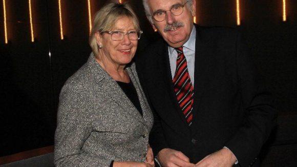 Journalist und Leiter des ARD-Hauptstadtstudios Ulrich Deppendorf mit seiner Frau Ursula.