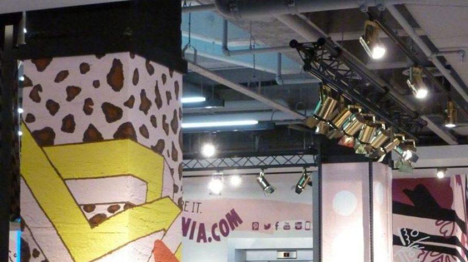 Graffiti-Künstler haben den Laden mitgestaltet.